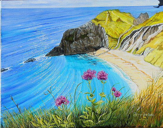 Man O War Bay - a different perspective by Annie Lovelass
