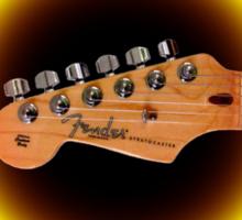 Fender strat usa Guitar by rafi talby Sticker