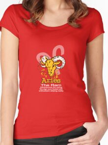 Aries The Ram Women's Fitted Scoop T-Shirt