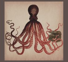 Vintage Octopus on Aged Parchment Baby Tee