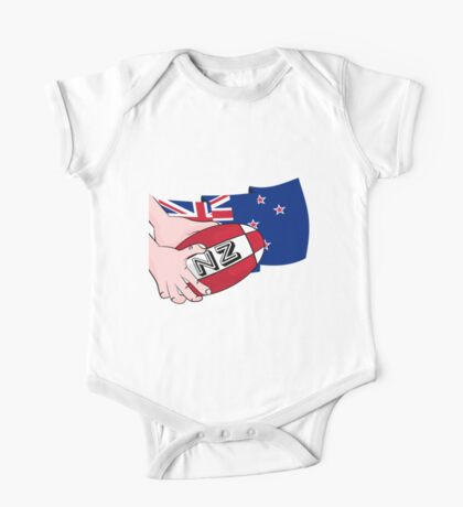 Rugby Ball New Zealand One Piece - Short Sleeve