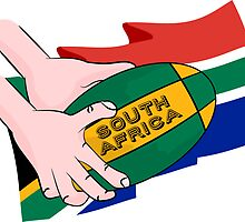 South Africa Rugby by piedaydesigns