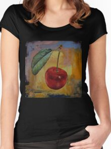 Vintage Cherry Women's Fitted Scoop T-Shirt