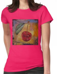 Vintage Cherry Womens Fitted T-Shirt
