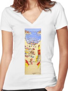 Between the flags Women's Fitted V-Neck T-Shirt