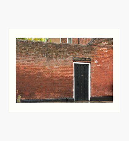 Mustow Corner House, Bury St. Edmunds Art Print