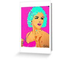 Marilyn Pop Art Pink Greeting Card