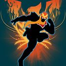 Super Smash Bros. Light Blue Captain Falcon Silhouette by jewlecho