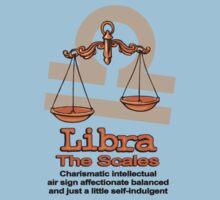 Libra the scales in orange Kids Tee