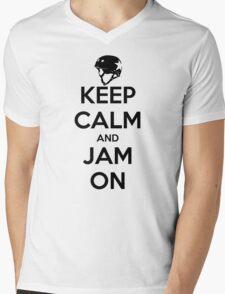 Keep Calm and Jam On Mens V-Neck T-Shirt