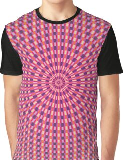 Pink Blue Orange and Yellow Rings Graphic T-Shirt