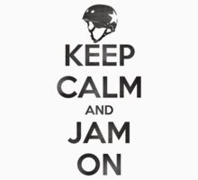 Keep Calm and Jam On, Distressed by five5six