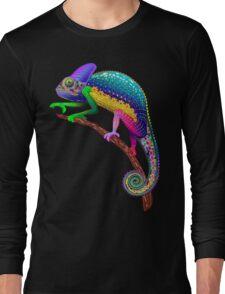 Chameleon Fantasy Rainbow Colors Long Sleeve T-Shirt