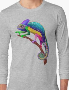 Chameleon Fantasy Rainbow Colors Long Sleeve T-Shirt
