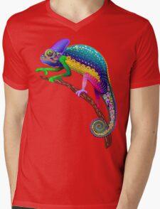 Chameleon Fantasy Rainbow Colors Mens V-Neck T-Shirt