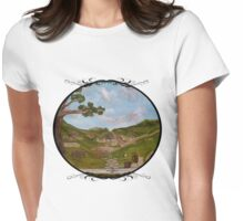 Here be Hobbits... Womens Fitted T-Shirt