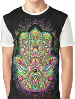 Hamsa Amulet Psychedelic Graphic T-Shirt