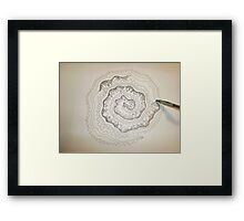 Whirly Jig Trees Framed Print