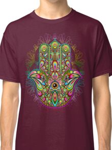 Hamsa Amulet Psychedelic Classic T-Shirt