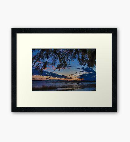 Beaufort Harbor Sunset Framed Print
