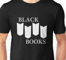 Black Books tshirt white design Unisex T-Shirt
