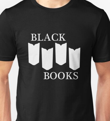 Black Books tshirt white design Unisex T-Shirt