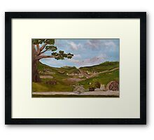 Here be Hobbits... Card Framed Print