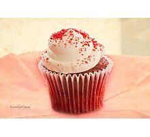 My Red Velvet Cup Cake Photographic Print
