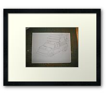 3 Minute Freehand Drawing by Aaron A Amyx  Framed Print