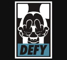 Mickey Says Defy! (Original) by Faded Fabrics