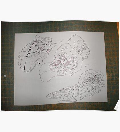 Back Massage / etiquette unique drawing \ For Adv Poster