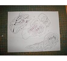 Back Massage / etiquette unique drawing \ For Adv Photographic Print