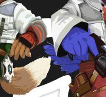 Fox and Falco Sticker