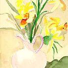 Vase of Flowers (Still Life) by Sandra Lee Woods