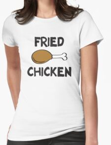 Fried Chicken Womens Fitted T-Shirt