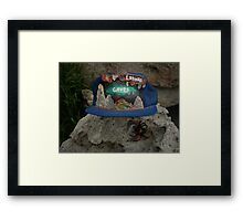 Lehman Caves / fire painting on cap artwork \ and Wolf Spider Framed Print