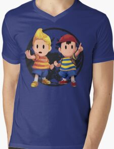Ness and Lucas Mens V-Neck T-Shirt