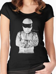 The Stig... He Will Kick Your Ass Women's Fitted Scoop T-Shirt