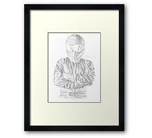 The Stig... He Will Kick Your Ass Framed Print
