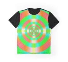 Orange Pink Green and Turquoise  Graphic T-Shirt