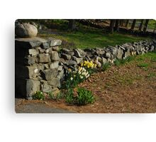 Floral Stonewall Canvas Print
