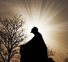 Amazing Jesus Christ with Radiance Light by Davinchi