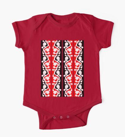 Maori Kowhaiwhai Traditional Pattern  One Piece - Short Sleeve