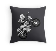 Women Who Ride - Dare Devil Throw Pillow