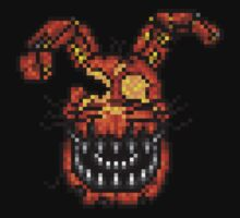Jack-O-Bonnie - Five Nights at Freddy's 4 Halloween - Pixel art Kids Tee