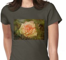 Damaged ~ a Rose with a Message Womens Fitted T-Shirt