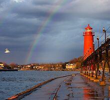 Double Rainbow Lighthouse by Davinchi