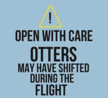 Otters may have shifted during the flight. T-Shirt