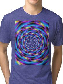 Vortex in Blue and Violet Tri-blend T-Shirt