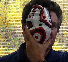 Upsidedown Mask Self-portrait by photobylorne